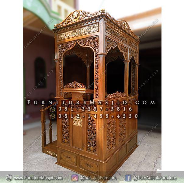 Mimbar Masjid Mewah Tangga Samping