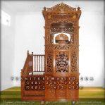 Mimbar Masjid Tangga Samping Ukir Jepara