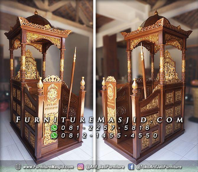 Mimbar Masjid Kubah Furniture Jepara