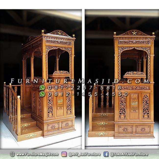 Mimbar Masjid Tangga Model Terbaru