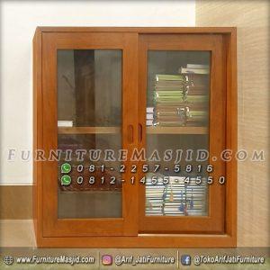 Lemari Rak Al-Qur'an Kayu Jati Minimalis