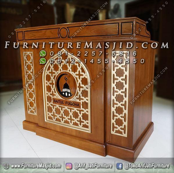 Podium Masjid Minimalis Jati Jepara