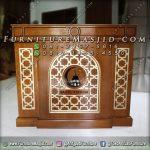 Podium Masjid Minimalis Kayu Jati Jepara