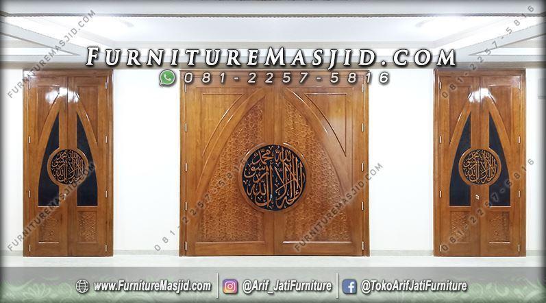Pintu Masjid Minimalis Jati Jepara